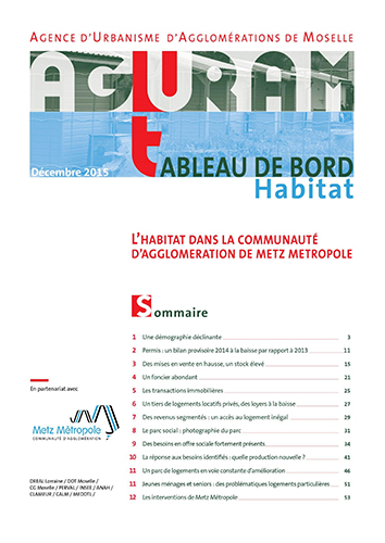 Tableau de bord habitat / Metz Métropole – 2015