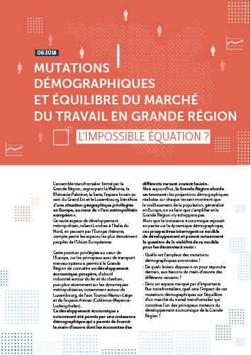 Mutations démographiques et équilibre du marché du travail en Grande Région