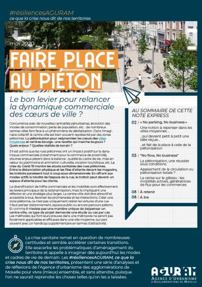 02/ FAIRE PLACE AU PIÉTON : Le bon levier pour relancer la dynamique commerciale des cœurs de ville ? / COLLECTION #RÉSILIENCES AGURAM