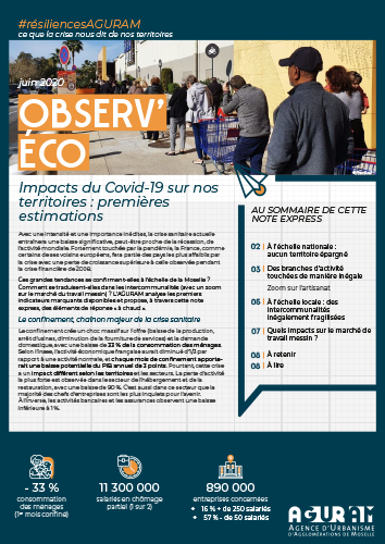03/ OBSERV'ÉCO : IMPACTS DU COVID-19 SUR NOS TERRITOIRES, 1ÈRES ESTIMATIONS / COLLECTION #RÉSILIENCES AGURAM