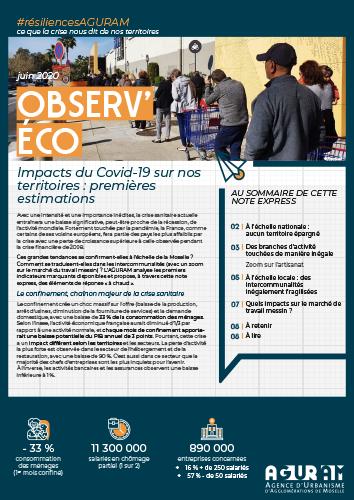 03/ OBSERV'ÉCO : IMPACTS DU COVID-19 SUR NOS TERRITOIRES, 1ÈRES ESTIMATIONS / COLLECTION #RÉSILIENCES AGURAM