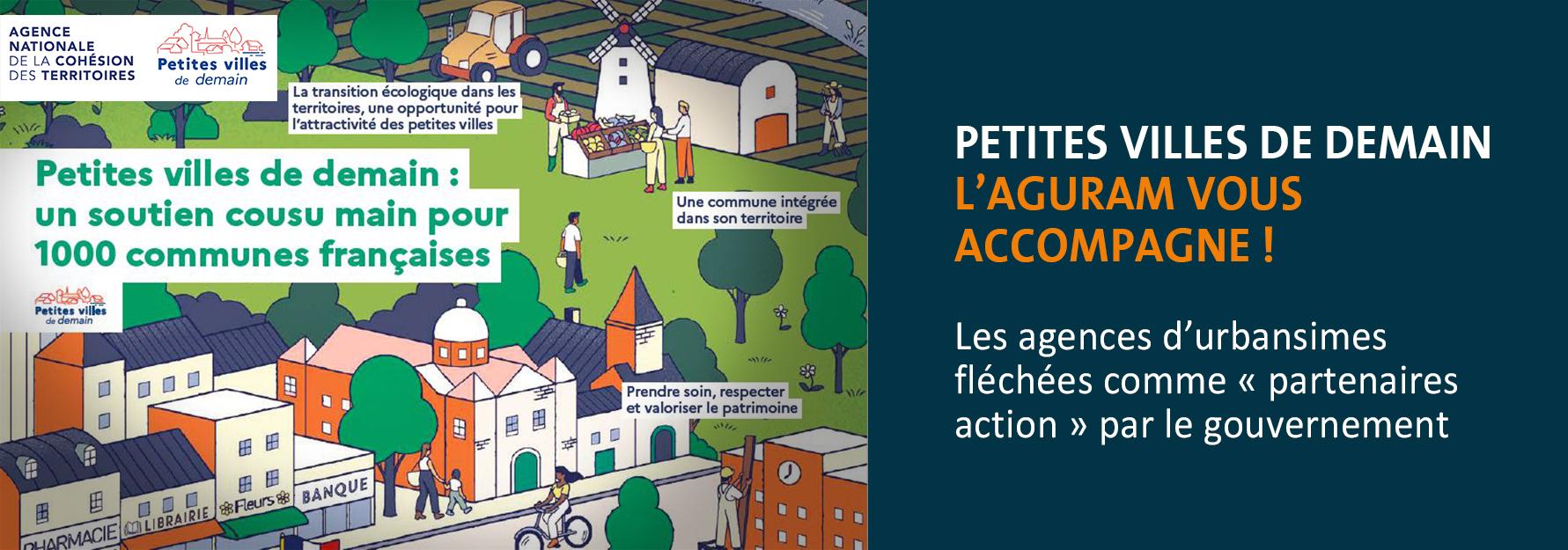 """11 """"petites villes de demain"""" ciblées par le dispositif ANCT : l'agence vous accompagne !"""