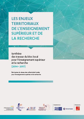 Enjeux territoriaux de l'Enseignement supérieur et de la recherche / synthèse 2014 > 2017